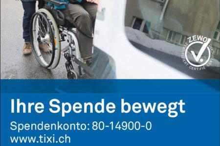 Wir engagieren uns für TIXI Zürich