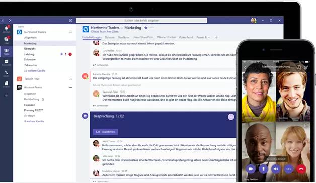 Telefonieren mit peoplefone Microsoft Teams
