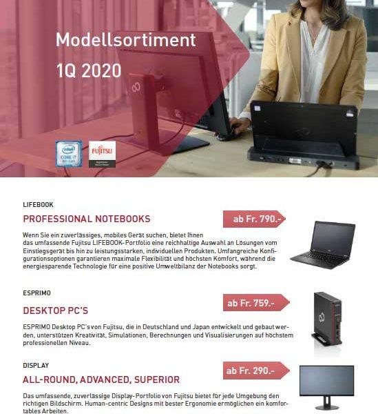 Fujitsu Modellsortiment 1Q 2020