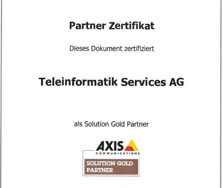 Wir sind AXIS Communications Solution Gold Partner