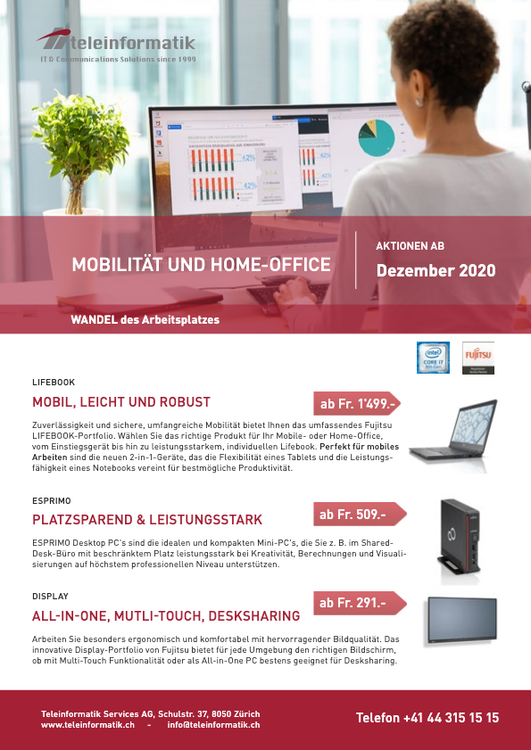 FUJITSU Aktionen ab Dezember 2020